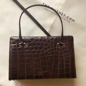 BEAUTIFUL Bellestone vintage 50's CROCO handbag
